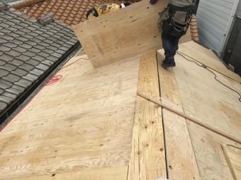 構造用合板の取付