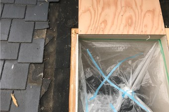 新たに交換する天窓の木枠