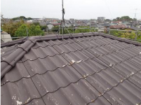 金属屋根葺き替え前のかわらU