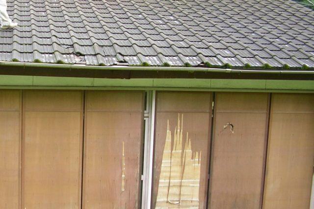 鹿児島県日置市雨漏れ部分棟の様子