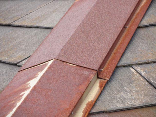 屋根棟部分の劣化