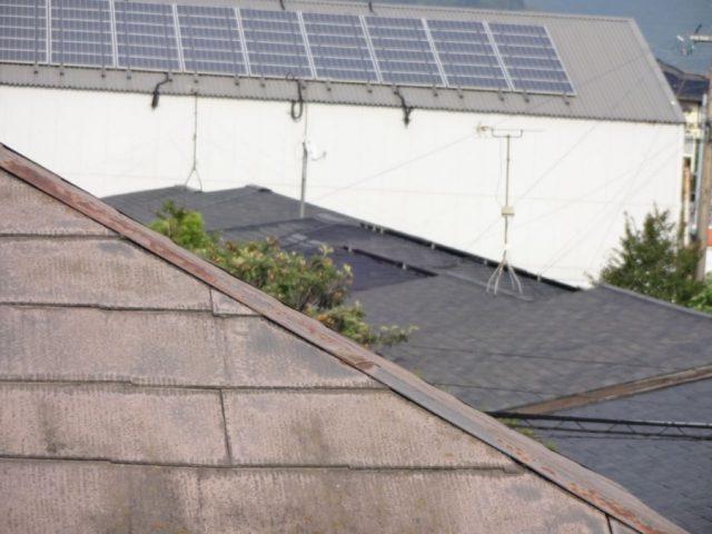 屋根の錆発生の様子