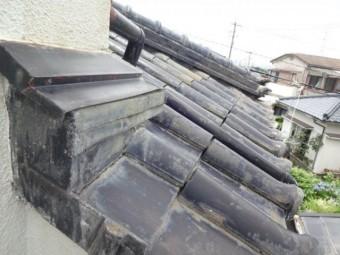 鹿児島市の屋根瓦の様子