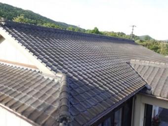 鹿児島市瓦屋根の点検の様子