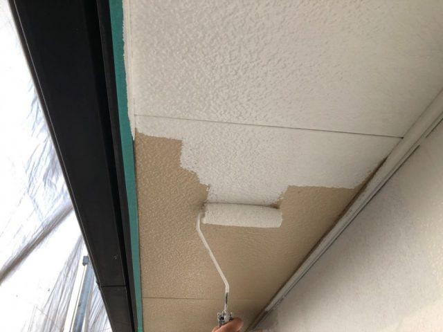 【鹿児島県霧島市】隼人町にあるアパート3棟のうち、C棟で屋根・軒天・雨樋の塗装をおこないました!軒天