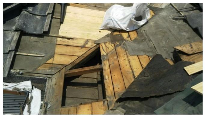 腐食した屋根下地