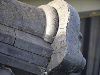 鹿児島市の屋根点検で見つけた瓦の割れ