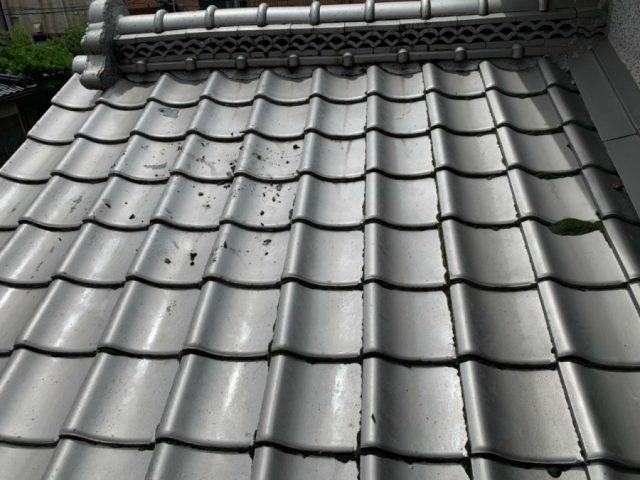 雨漏り発生部分 屋根の様子