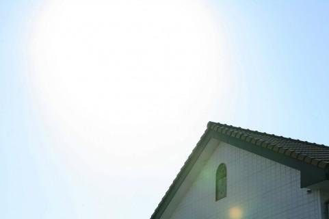 家と太陽 イメージ