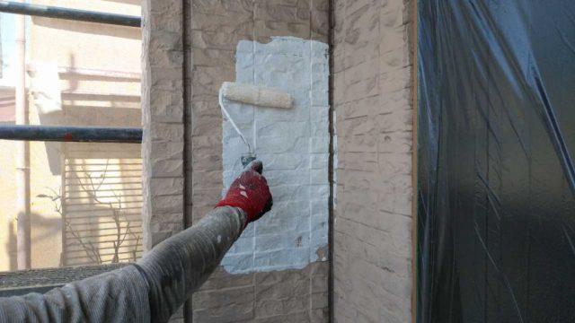 鹿児島市で行った外壁下塗り塗装