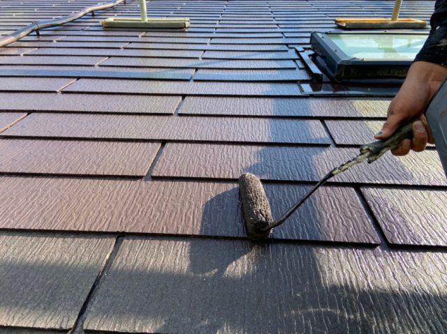 鹿児島市のコロニアル屋根塗装