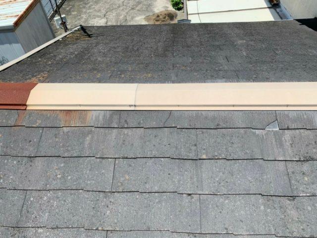 スレート屋根からの雨漏り補修