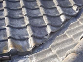 鹿児島市の屋根点検谷部分の様子