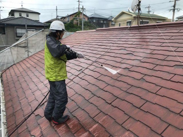 屋根リフォーム カバー工法 高圧洗浄