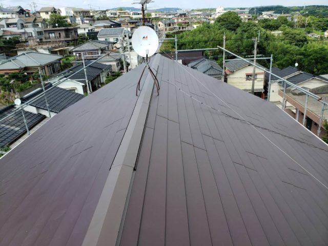 屋根リフォーム カバー工法ガルバリウム鋼板