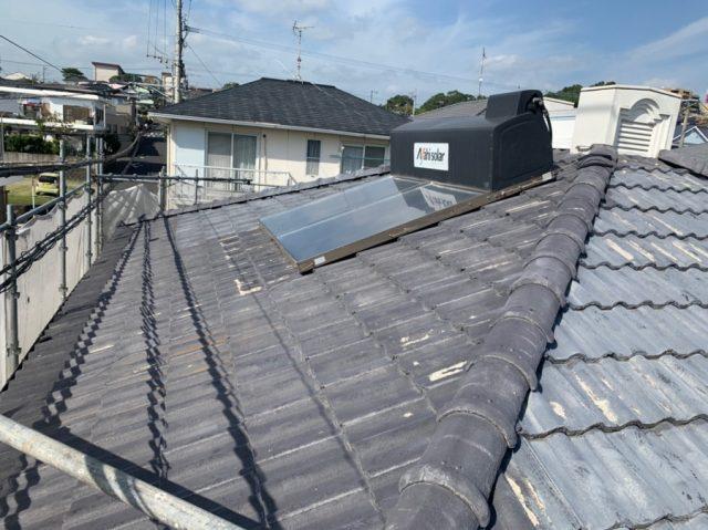 鹿児島市屋根塗装工事前のセメント瓦
