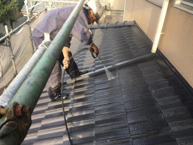 鹿児島市屋根の高圧洗浄