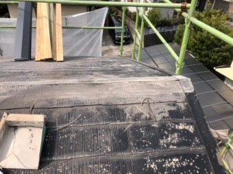 屋根の棟板金補修工事