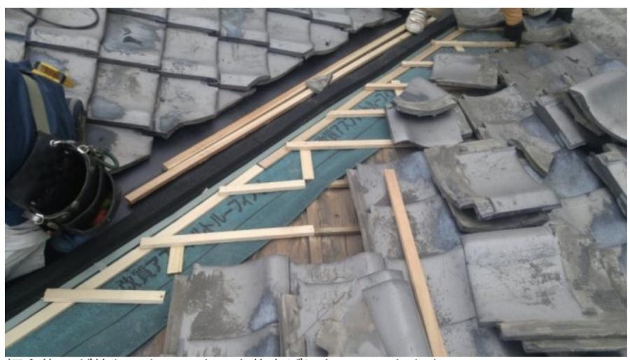 屋根の谷補修完了