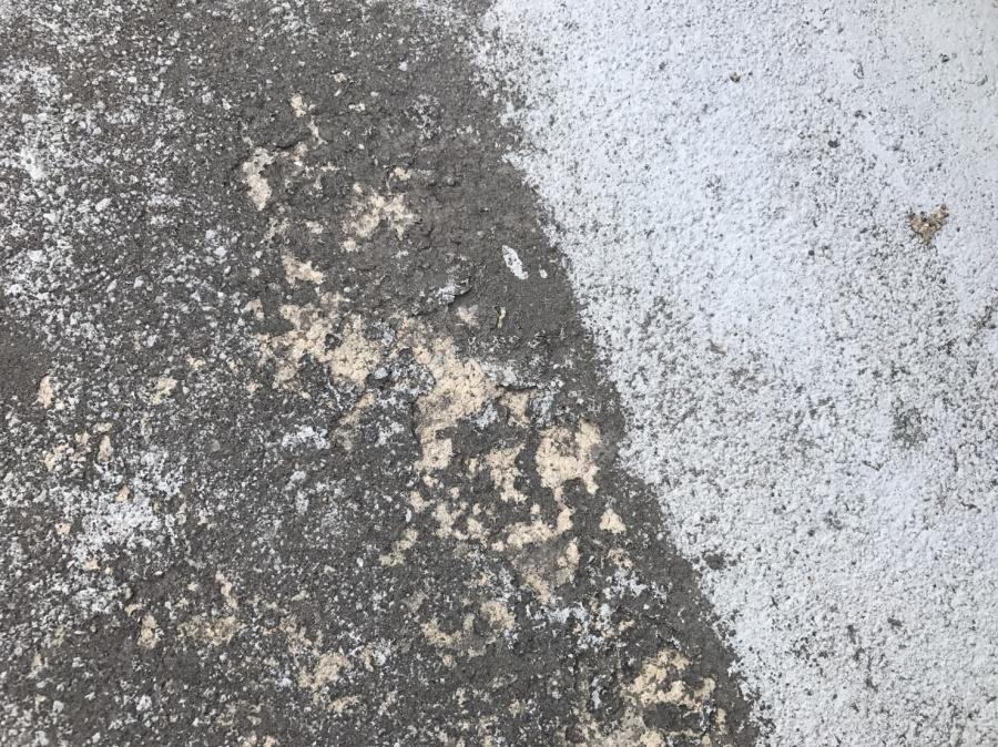 屋上防水痛み状況アップ写真