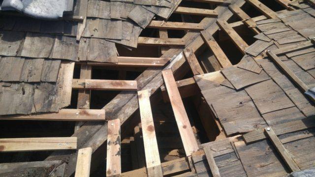 谷部分垂木補修