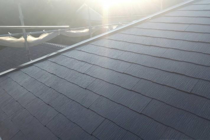 屋根 塗装工事完成
