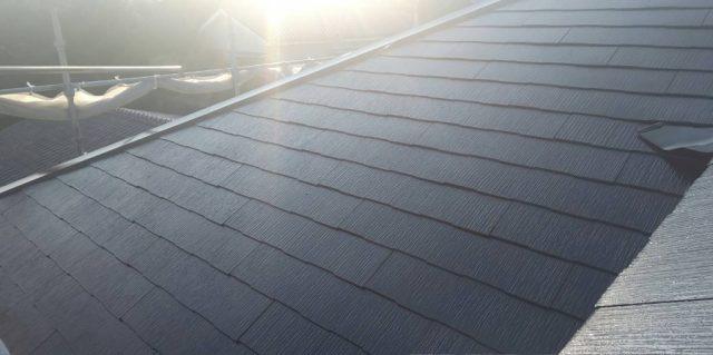 コロニアル屋根 塗装完成