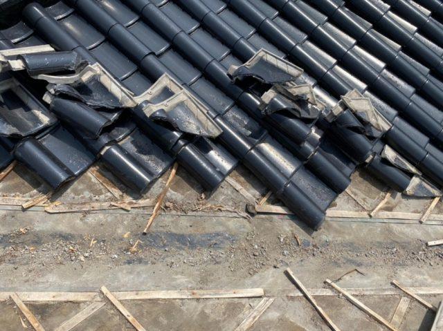 薩摩川内市の雨漏れ補修瓦撤去