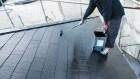 鹿児島市屋根塗装中の様子