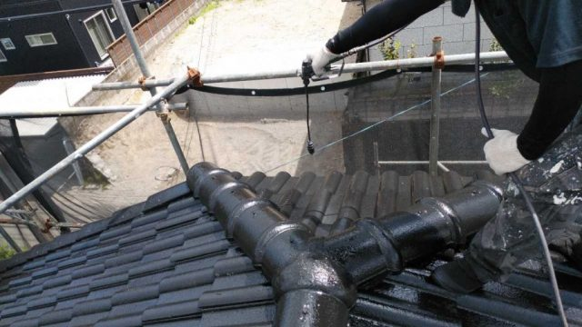 屋根上塗り 吹付