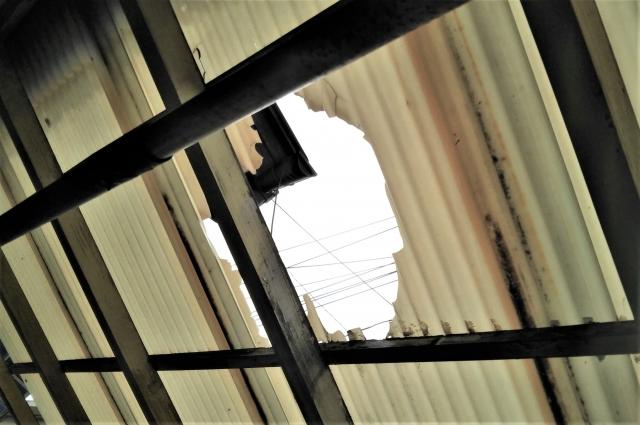 鹿児島市の波板破損