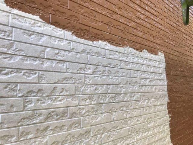 鹿児島市外壁塗装工事の様子
