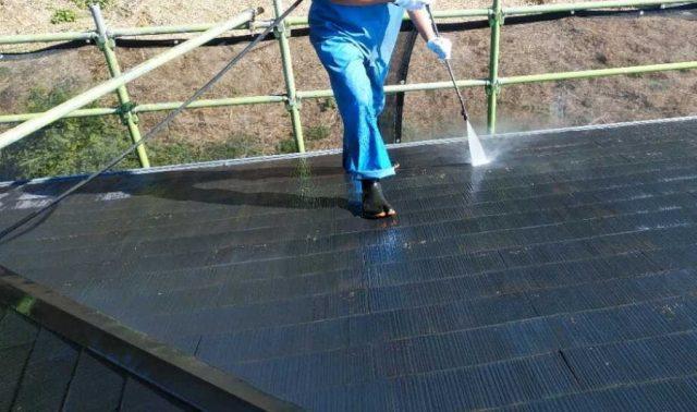 鹿児島市 塗装工事 屋根高圧洗浄