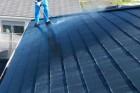 屋根塗装高圧洗浄の様子