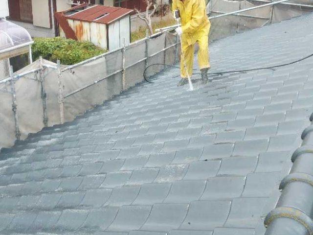 鹿児島市の高圧洗浄の様子