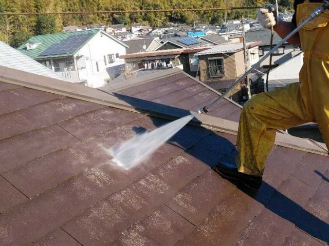 鹿児島市にてフッ素樹脂塗料で屋根塗装を行います