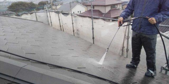 鹿児島市塗装工事高圧洗浄洗い流し