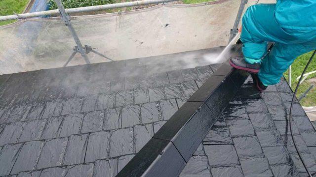 鹿児島市塗装工事高圧洗浄の様子
