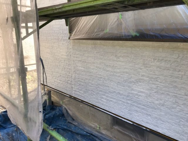 鹿児島市外壁塗装工事 下塗り
