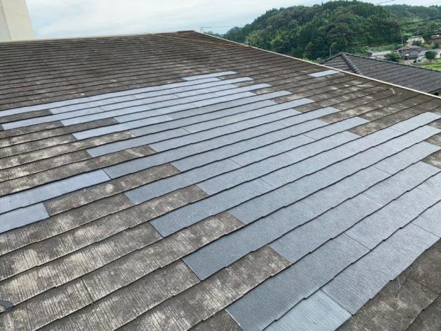 屋根のルーフィング貼り付け