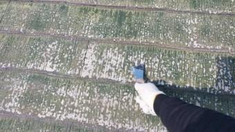 鹿児島市 コロニアル塗装工事 下地処理の様子