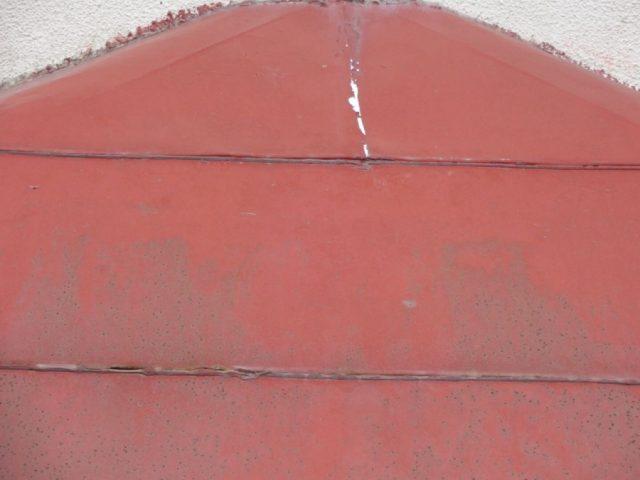 姶良市玄関屋根劣化