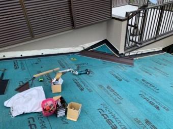 鹿児島市ガルバリウム鋼板への葺き替え工事