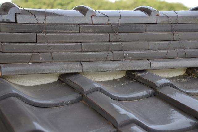 屋根の漆喰の様子