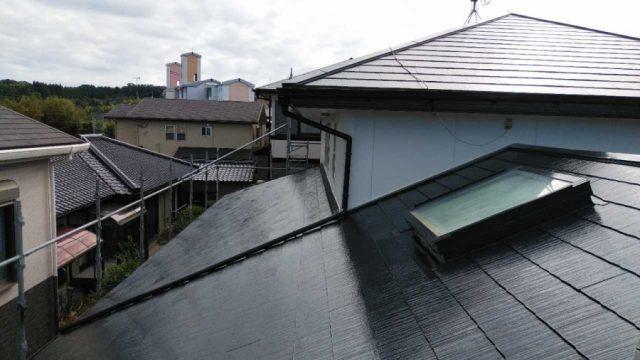 鹿児島市の屋根塗装工事完成の様子