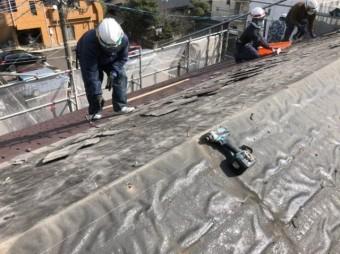 鹿児島市 葺き替え工事の様子