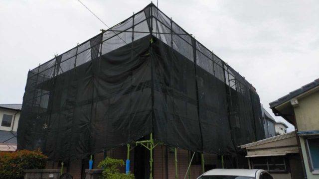 コロニアル屋根塗装工事開始