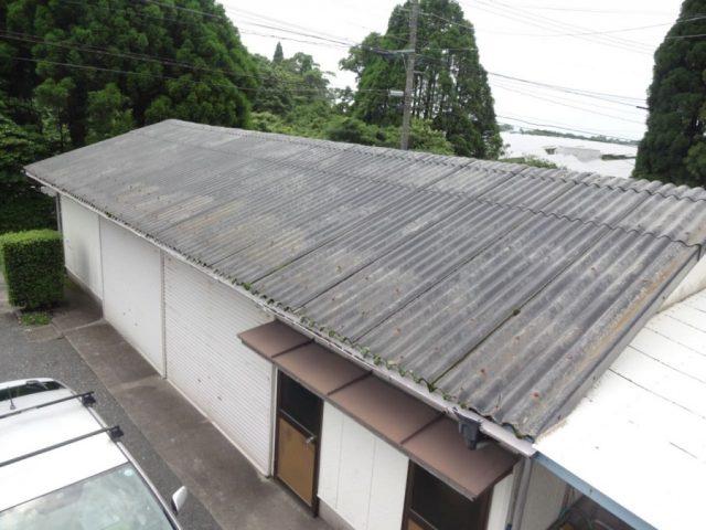 倉庫屋根の劣化