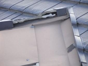 屋根の補修が必要な部分