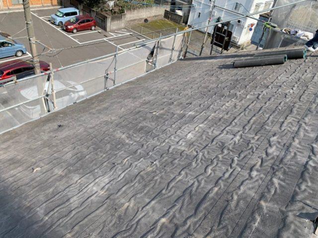 屋根の葺き替えルーフィング張り
